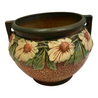 Mid-Century Floral Ceramic Planter