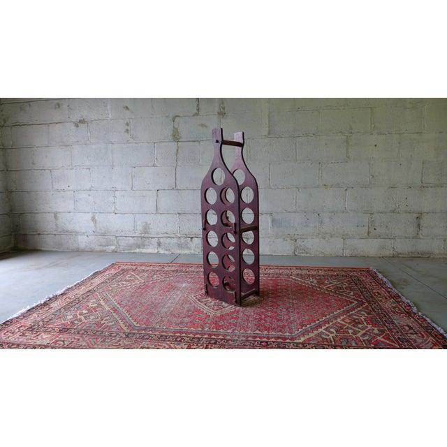 Mid Century Modern Wine Rack | Chairish