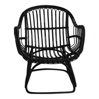 Black Bamboo Lounge Chair