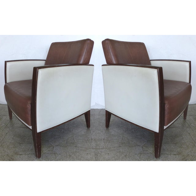 Image of Jean Michell Frank-Style Deco Chairs - A Pair