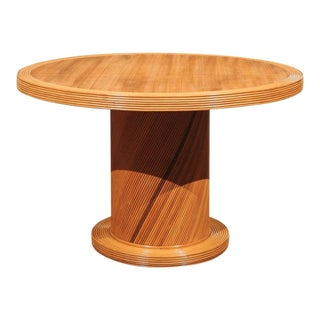 Elegant Circular Center or Dining Table by Bielecky Brothers