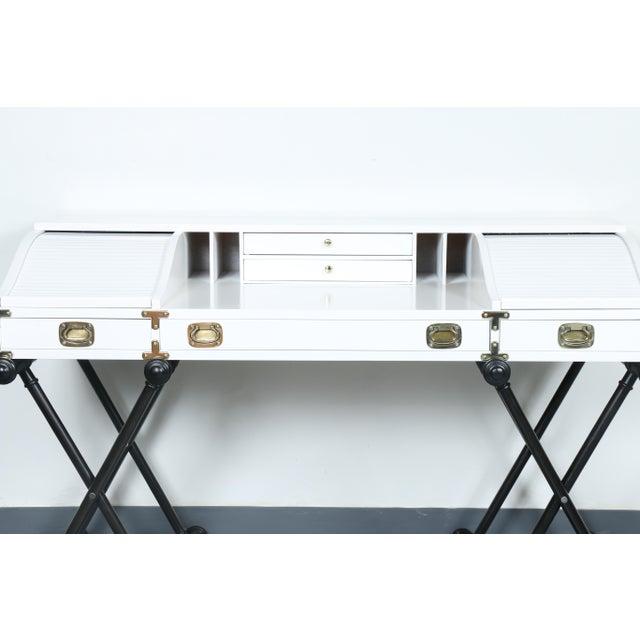 White Hollywood Regency Desk - Image 4 of 11
