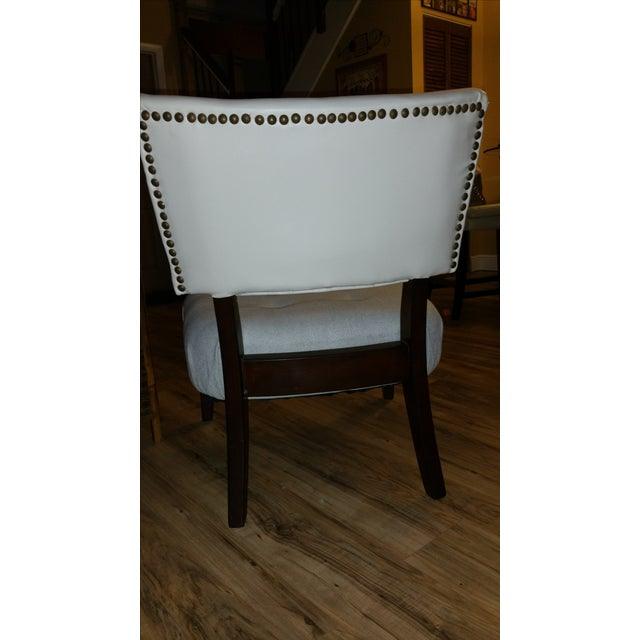 Large Accent Chair, Grey and White Seat - Image 4 of 4