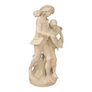 Signed Auguste Moreau Bisque Porcelain Figurine