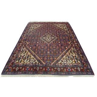 Vintage Persian Tabriz Wool Rug - 3′8″ × 4′11″