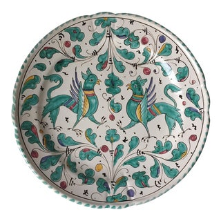 Hand Painted Italian Faience Gryphons Plate