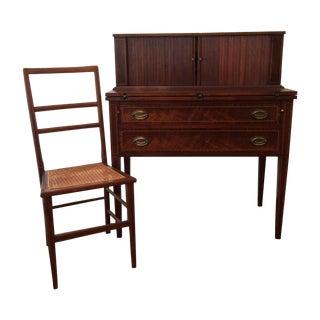 Mahogany Writing Desk & Chair