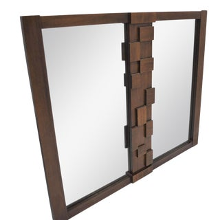 Brutalist Style Mirror By Lane