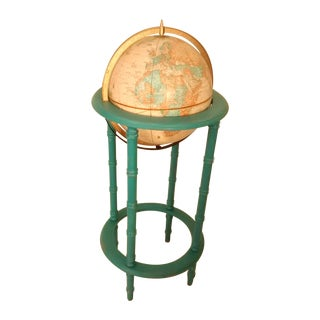 MCM Crams Imperial World Globe on Wooden Stand