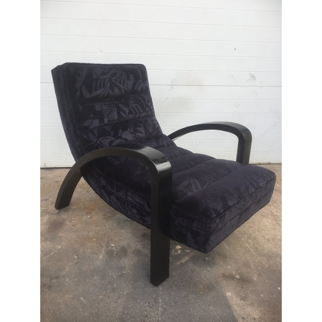 Image of Mid-Century Abstract Upholstered Lounge Chair