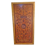 Image of Large Hand-Carved Wood Art Wall Panel