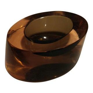 Mid-Century Modern Glass Cylindrical Ashtray