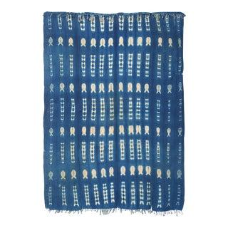 Vintage Indigo Shibori Dyed Textile