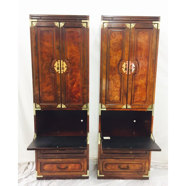 Mid-Century Asian Style Cabinets - A Pair - Image 7 of 11