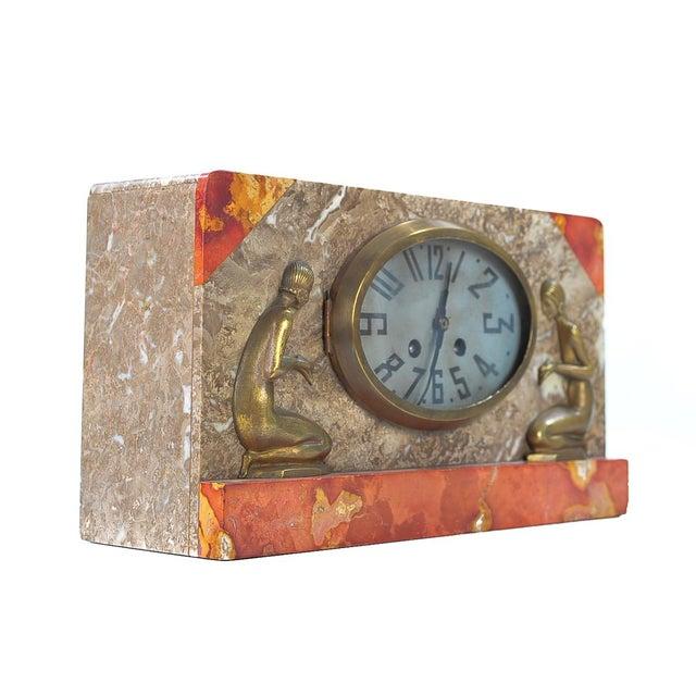 Art Deco Vintage Marble & Bronze Clock C.1930 - Image 5 of 9