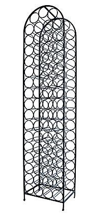 iron wine rack by arthur umanoff