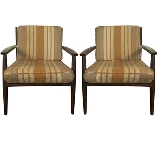 Baumritter Walnut Lounge Chairs - Pair