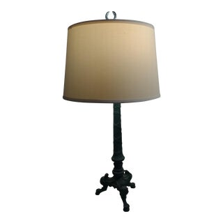 Neoclassical Forest Green Table Lamp