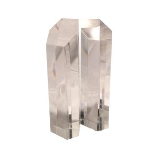 Acrylic and Lucite Tall Vintage Bookends