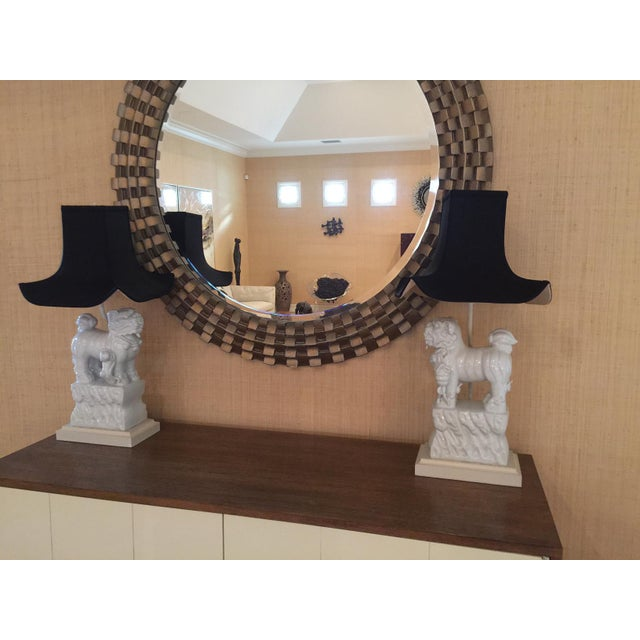 Foo dog blanc de chine table lamps a pair chairish for Table de chine