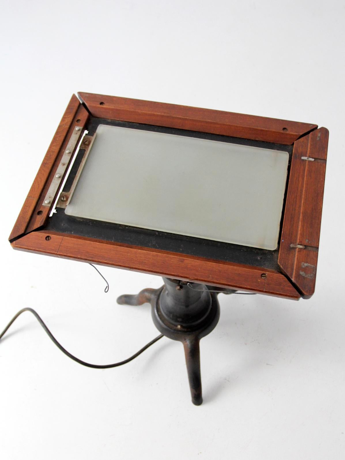 Antique Edison Dick Mimeoscope Lighted Tracing Table   Image 6 Of 11