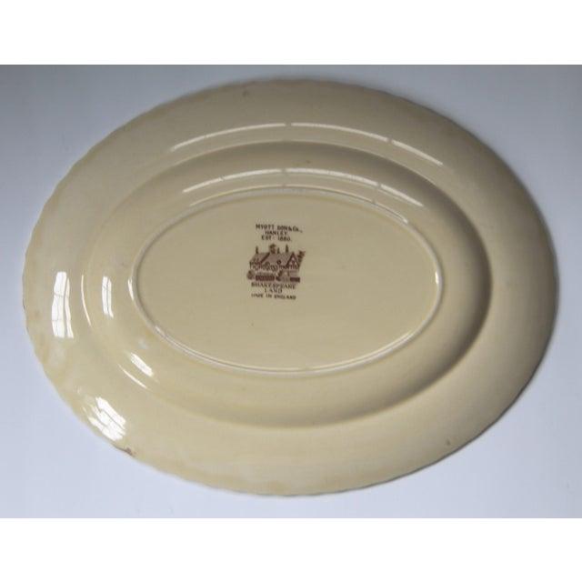 Myott Brown Transferware 'Shakespeare' Serving Platter - Image 4 of 5
