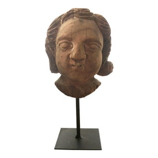 Mexican Carved Wooden Bust