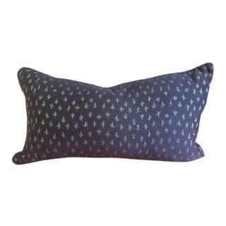 "Ikat Textile Pillow Thai Linen - 23"" x 12"""