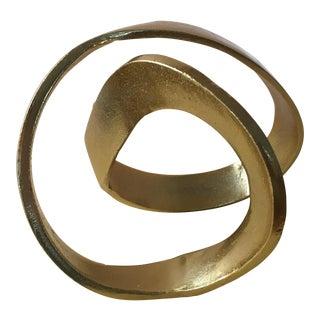 Abstract Modern Swirl Sculpture