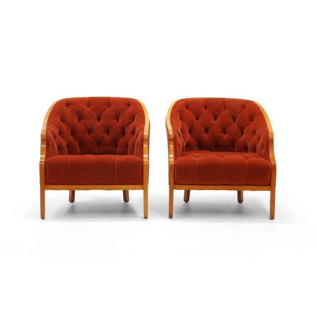 Pair of Ward Bennett Club Chairs for Brickel Associates - Image 3 of 10