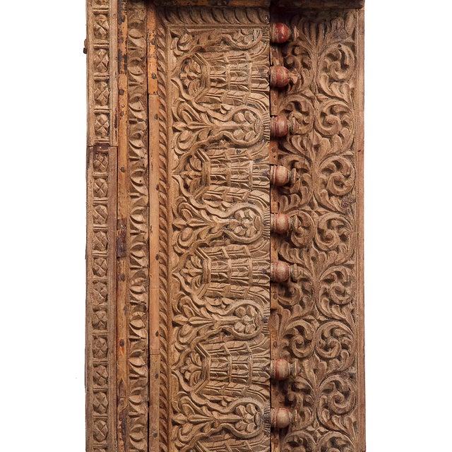 Antique Floral & Leaf Wood Carved Panel - Image 4 of 7