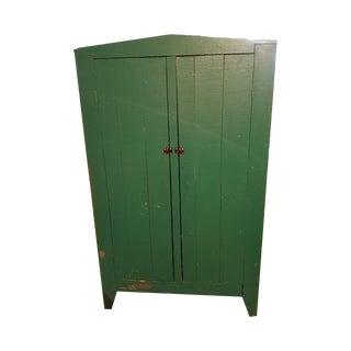 Antique Green Primitive Cupboard