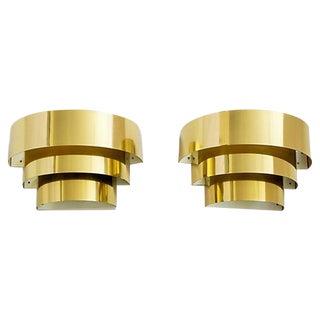 Brass 3-Tier Sconces by Lightolier - Pair