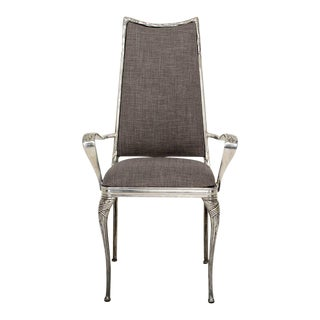 Set of Four Aluminum Hollywood Regency Chairs