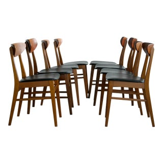 Danish Mid-Century Teak Mix n' Match Dining Chairs - Set of 8