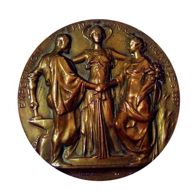 Art Nouveau Bronze Medallion, 1897 - Image 1 of 4