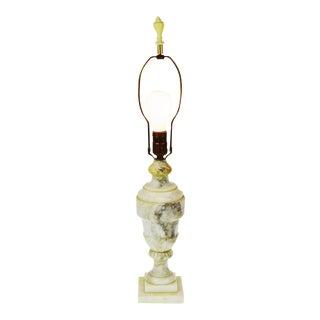 Vintage Carved Alabaster Table Lamp