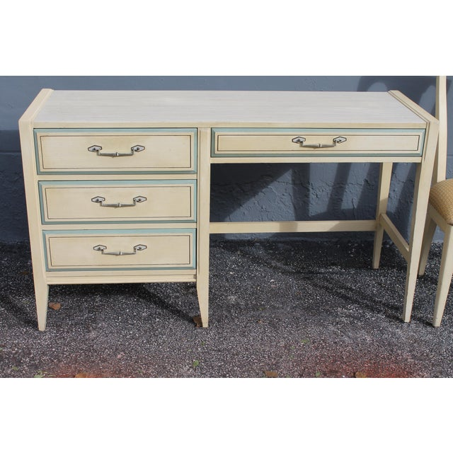 1960s Vintage Mid Century Modern Writing Desk & Chair - Image 3 of 10