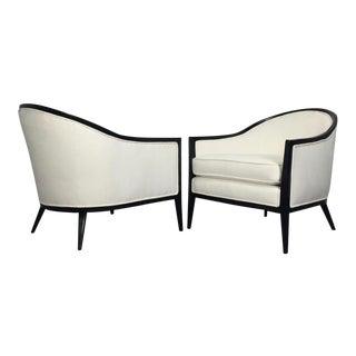 Harvey Probber Ebonized Lounge Chairs - A Pair