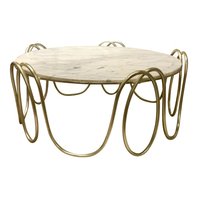 Henredon Marble Top Cocktail Table Chairish