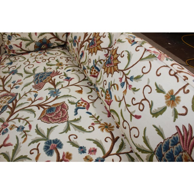 Mid-Century Modern Floral Sofa Settee - Image 8 of 10