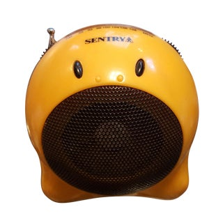Vintage 1960s Panton Era Yellow Smiley Face Radio