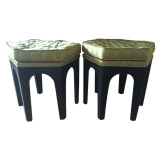 Vintage Moroccan-Style Stools - A Pair