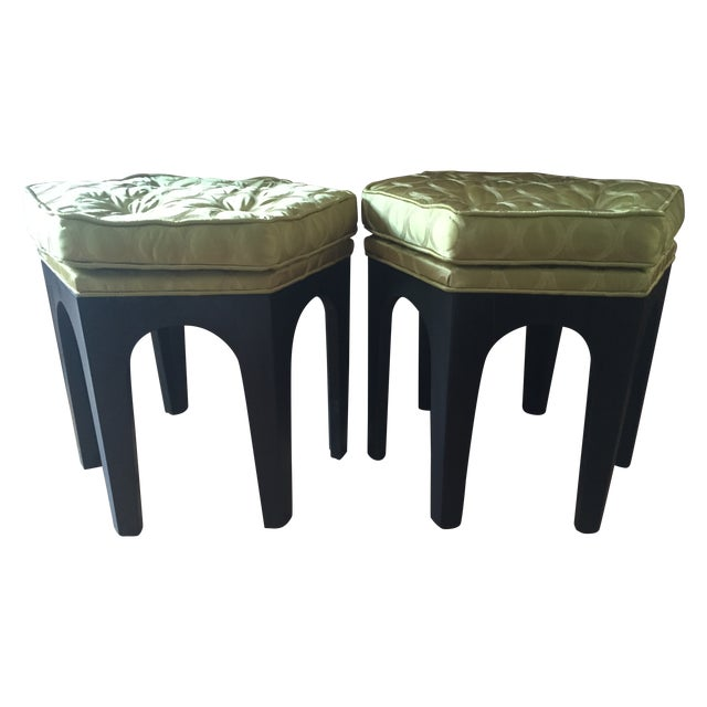 Image of Vintage Moroccan-Style Stools - A Pair