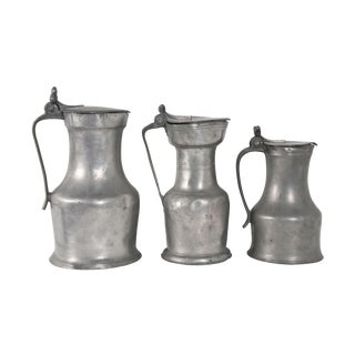 Pewter Grouping With Acorn Tumb Piece