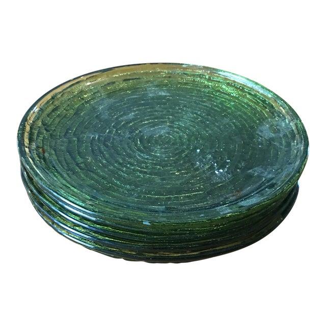 Vintage Libbey Rock Sharpe Olive Green Salad Plates- Set of 5 - Image 1 of 6