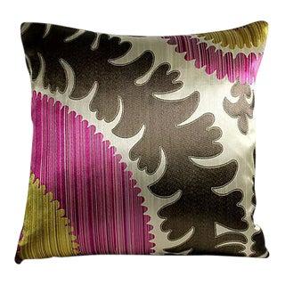 Donghia Silk & Velvet Suzani Accent Pillow