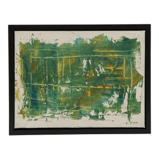 Green Abstract Painting on Canvas