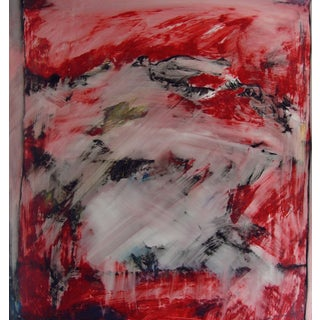 """Splashed in Red & Black"" Expressionist Painting"