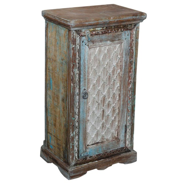 Image of Vintage Moorish Style Carved Cabinet